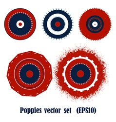 Poppies elements vector image vector image