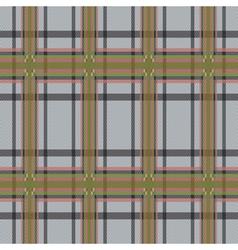 Rectangular tartan brown and gray fabric seamless vector