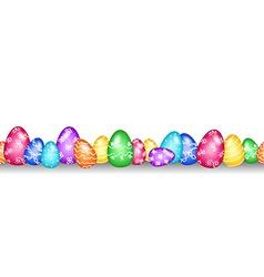 Seamless easter egg border vector