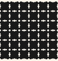 seamless pattern with circles in square grid dark vector image vector image