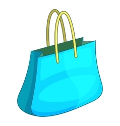 Shopping bag icon cartoon style vector image vector image