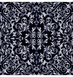 Silver baroque pattern vector image vector image