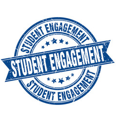 Student engagement round grunge ribbon stamp vector