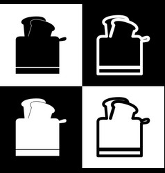 Toaster simple sign black and white icons vector