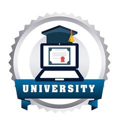 university emblem vector image