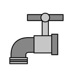 Water tap metal icon vector