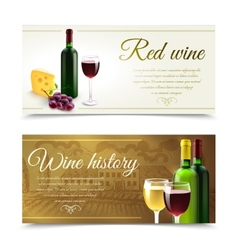 Wine Banners With Cheese vector image