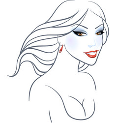 Women beauty face vector