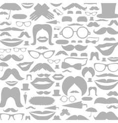 Moustaches a background vector image