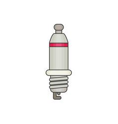 Spark plug flat vector