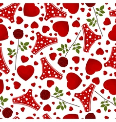 seamless background by St Valentines Day vector image