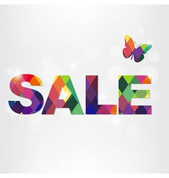 Colorful sale text with bokeh vector