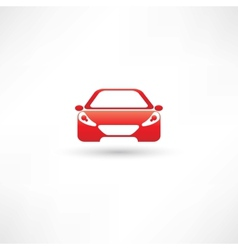 Red front car vector