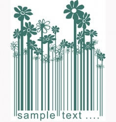 floral barcode vector image