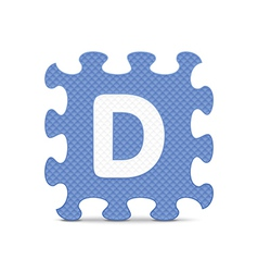 letter D written with alphabet puzzle vector image
