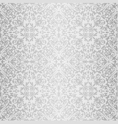 Silver baroque bright pattern vector