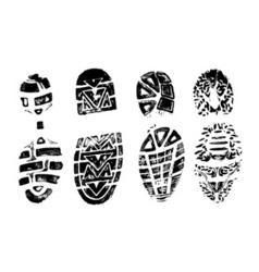 4 bootprints vector image vector image