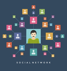 Social media network connection people concept vector