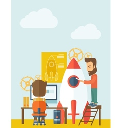 Two man for start up business vector