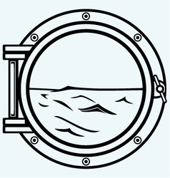 Metallic porthole vector