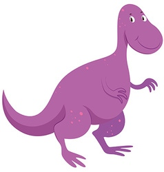 Purple dinosaur with happy face vector