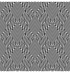 Abstract striped shapes seamless pattern vector