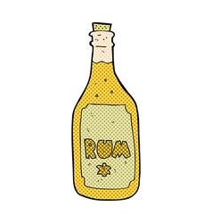 Comic cartoon rum bottle vector