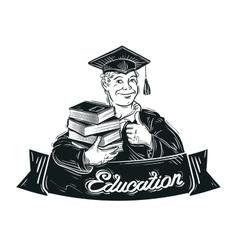 education logo design template school vector image
