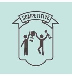 Competitive spirit design vector