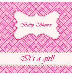 Baby-shower-abstract-background-girl-3 vector image