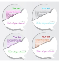 paper bubble speech vector image