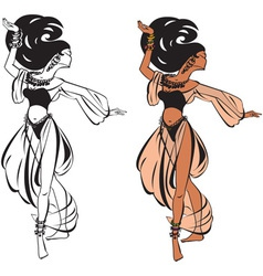 Arabic belly dance vector