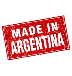 Argentina red square grunge made in stamp vector