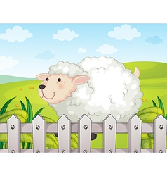 A smiling sheep vector image