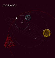 Abstract cosmic composition vector