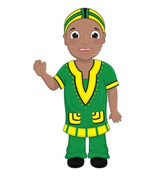 African Boy vector image