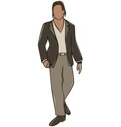 Anonymous man avatar vector
