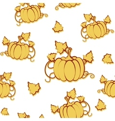 Autumn seamless pattern with pumpkin and vector image vector image