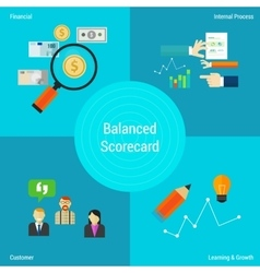 balance scorecard vector image