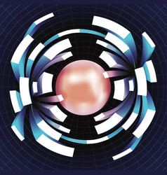 Ball extension movement volume space grid abstract vector