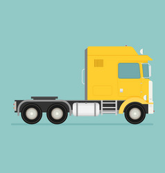 Big semi truck flat trendy vector