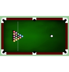 Billiard balls on table vector