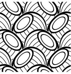 black and white seamless pattern with ethnic vector image