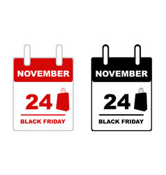 black friday calendar vector image vector image