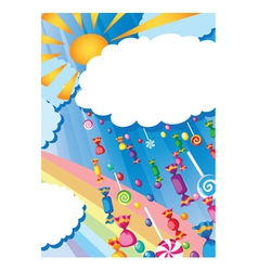 candy rain and sun card vector image vector image