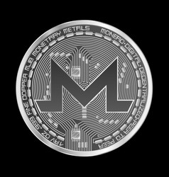 Crypto currency monero silver symbol vector