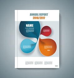 Design of magazine cover annual report flyer vector