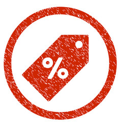 Discount tag rounded grainy icon vector