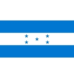Flag of honduras in correct proportions and colors vector