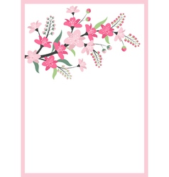 Floral Branch Card vector image vector image